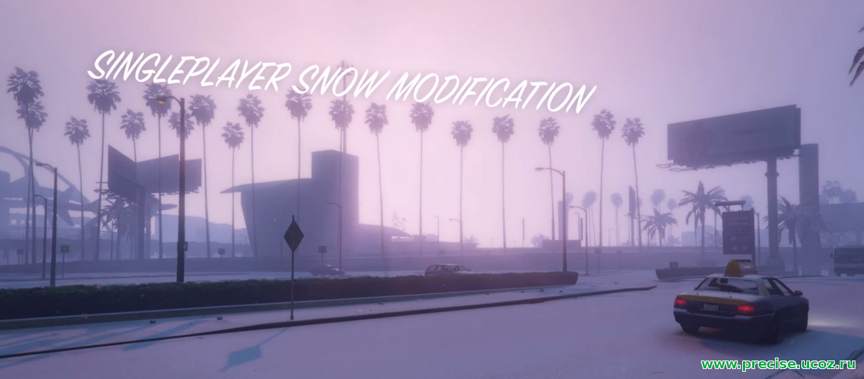 Мод Singleplayer Snow для GTA 5