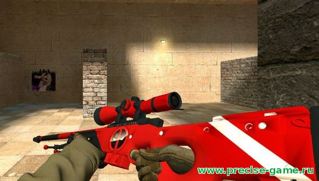 "Модель  AWP ""Deadpool""  для CS:S"