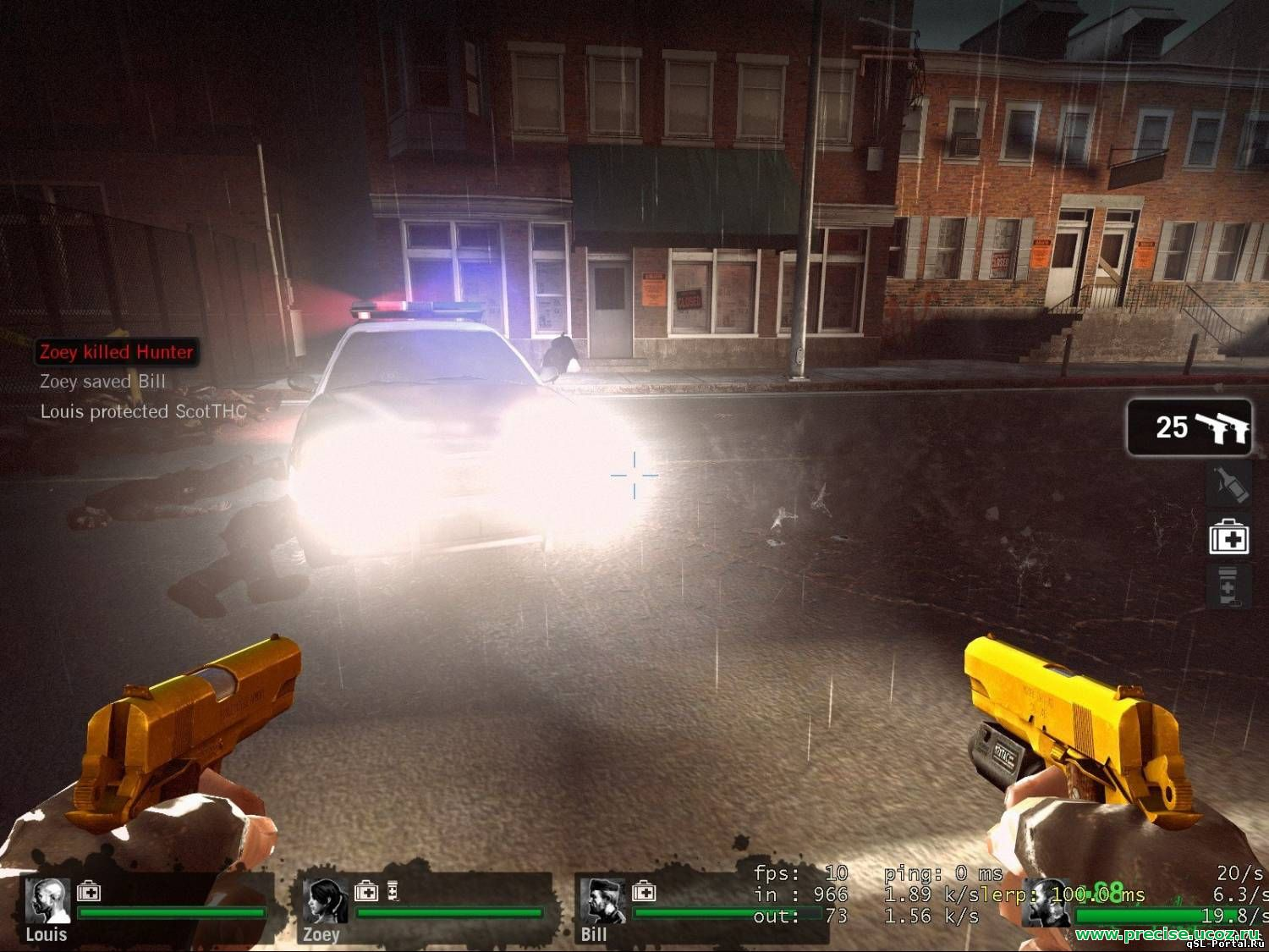 Модель пистолета Golden Colts для Left 4 dead